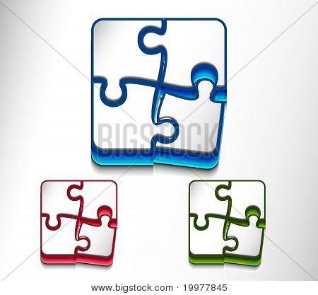 Puzzle Web icono diseño conjunto