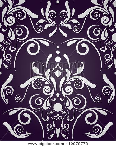 Abstract Seamless Damask
