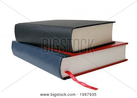 Isolated Books Over White.
