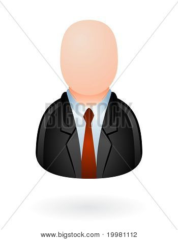 businessman avatar isolated
