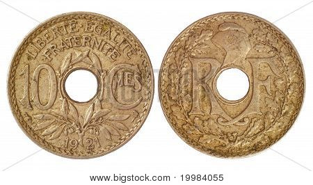 Antique Coin Of France