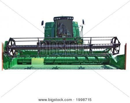 Front Of Combine Isolated