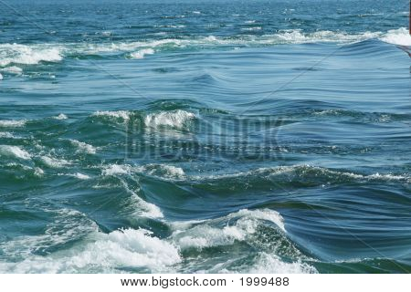 Detail Of Currents In The The Etel Sandbar (France, Brittany South)