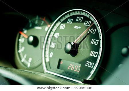 Salpicadero de un coche con enfoque de Sleective