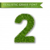 Green Grass Number poster