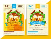 Oktoberfest Vector Poster Background Design. Octoberfest Holiday Banner Layout. Party Or Event Flyer poster