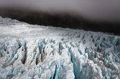 Dark Glacier Landscape - New Zealand