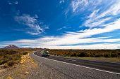 Car Heading Mount Ngauruhoe in New Zealand