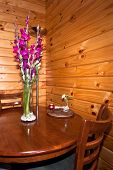 Flowers, Chairs And Table