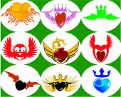 Nine Brand New Crown Hearts On The Wings. poster