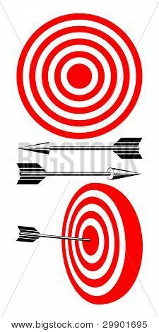 Target And Arrows.