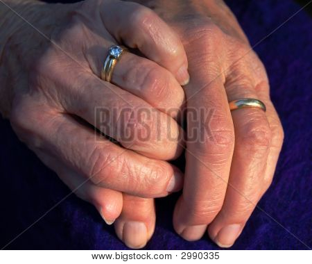 Senior Married Hands