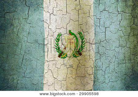 Grunge Guatemala Flag