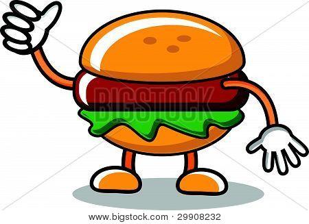 Burger Mascot
