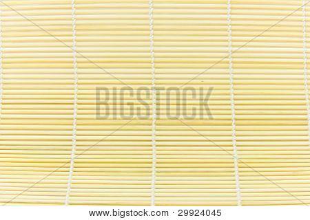 Texture Of Japanese Bamboo Sushi Mat