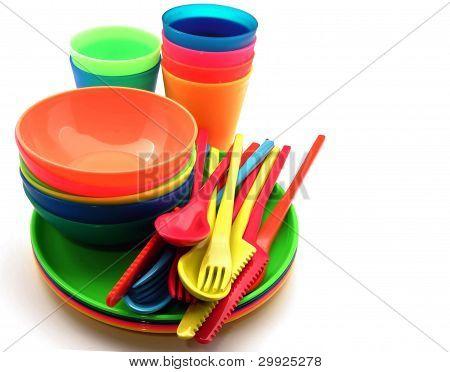 Plastic tableware