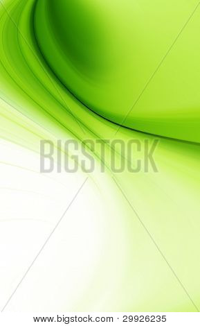 abstract background green curves