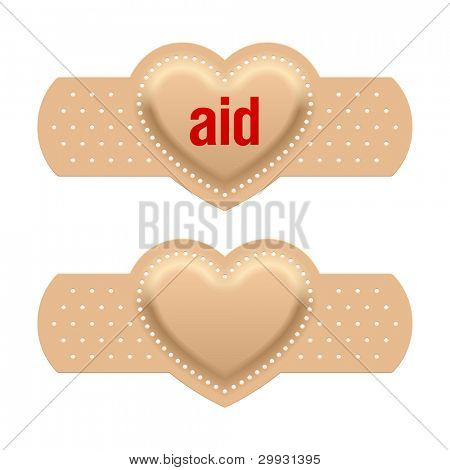 First aid with love. Vector.