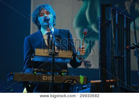 Orlando, Florida - January 15: Andy Ross Vocals, Guitar And Keyboards Player Of Rock Band Ok Go Perf