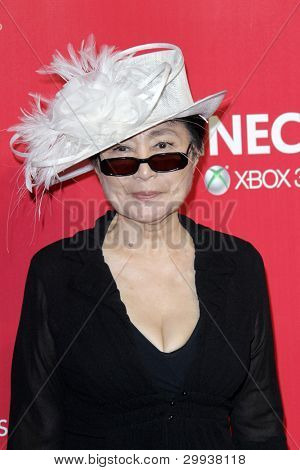 LOS ANGELES - FEB 10:  Yoko Ono arrives at the 2012 MusiCares Gala honoring Paul McCartney at LA Convention Center on February 10, 2012 in Los Angeles, CA
