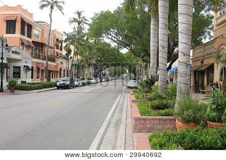 Fifth Avenue South In Downtown Naples, Florida
