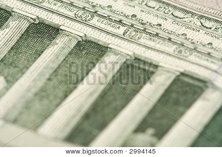 Macro Of Five Dollar Bill Back