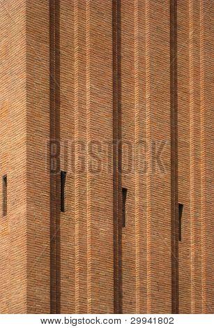 abstrakt Backstein-Fassade