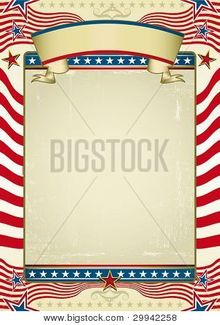 Traditional american background. Grunge Image with red stripes and stars shapes. Great background to make use of an advertising. See another illustrations like this on my portfolio.