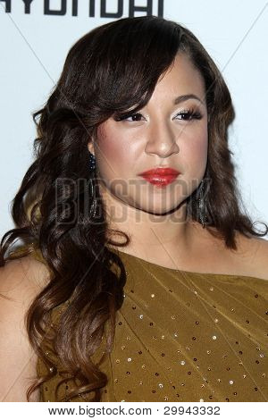 LOS ANGELES - FEB 11:  Melanie Amaro arrives at the Pre-Grammy Party hosted by Clive Davis at the Beverly Hilton Hotel on February 11, 2012 in Beverly Hills, CA