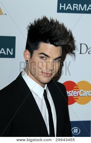 LOS ANGELES - FEB 11:  Adam Lambert arrives at the Pre-Grammy Party hosted by Clive Davis at the Beverly Hilton Hotel on February 11, 2012 in Beverly Hills, CA