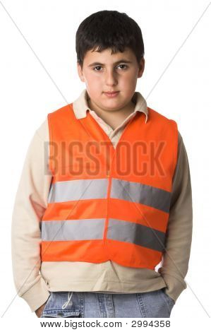 Boy In High Visibility Vest