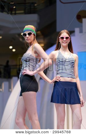 MALAYSIA - 2 MAY 2011: Andrewsmodels runway at the 1Utama Ogival Swim Wear Collection for 2011