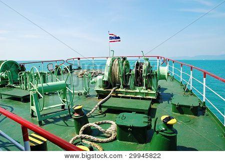 prow of passenger ship
