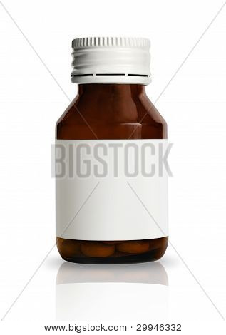 Pill Bottle With Blank Label