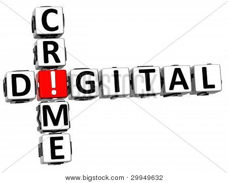 3D Digital Crime Crossword