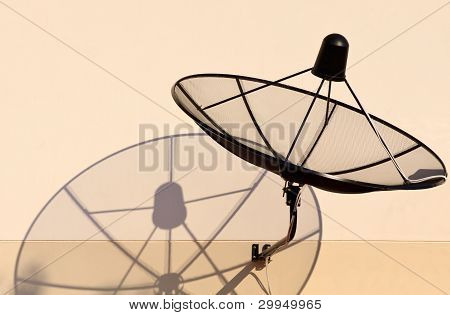 home satellite dish and shadow