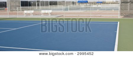 Serve Line On Tennis Court