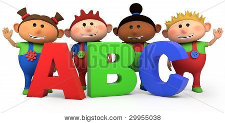 Kids With Abc Letters