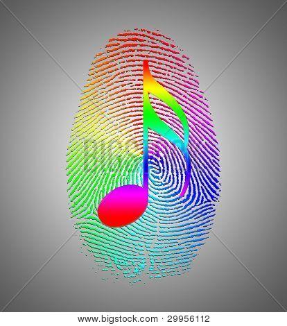 Rainbow Music Finger Print