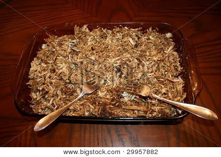 Pork BBQ Step 4:  Pok shredded, pulled and ready for eating