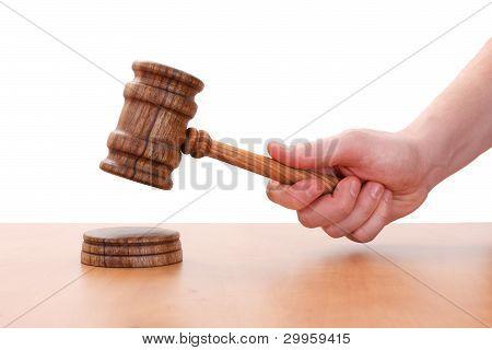 Hand Hitting With Wodden Hammer