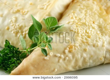 Filo Pastry Background
