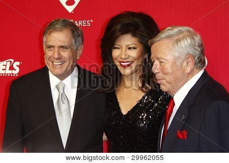 LOS ANGELES, CA - FEB 10: Les Moonves; Julie Chen; Robert Kraft at the 2012 MusiCares Person of the Year Tribute To Paul McCartney at the LA Convention Center on February 10, 2012 in Los Angeles, CA