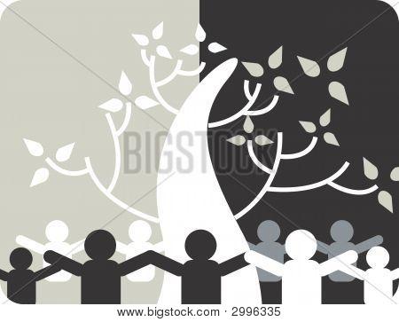 Men And Tree