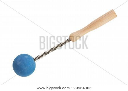 Spring Massager With A Rubber Ball