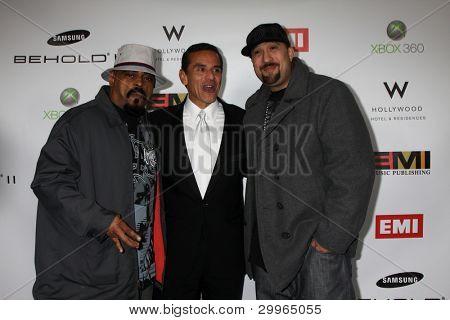 LOS ANGELES, CA - FEB 13: Antonio R. Villaraigosa  & Cypress Hill at the EMI GRAMMY After-Party at Milk Studios on February 13, 2011 in Los Angeles, California