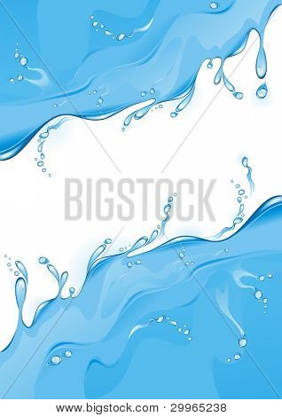 Water background. Realistic water splash. (vector illustration)