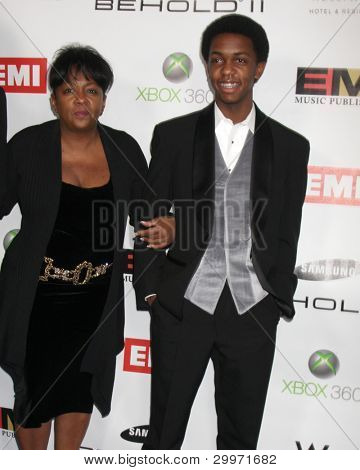 LOS ANGELES, CA - FEB 13: Anita Baker, son at the EMI GRAMMY After-Party at Milk Studios on February 13, 2011 in Los Angeles, California