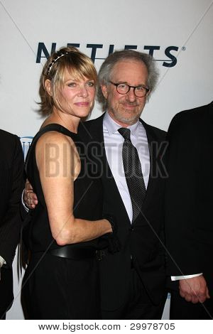 LOS ANGELES, CA - JAN 27: Kate Capshaw & Steven Spielberg at the