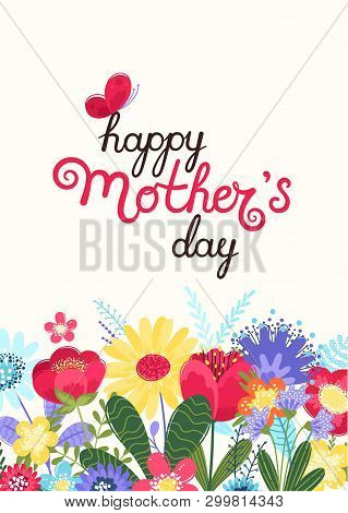 poster of Mother S Day Greeting Card. Mother S Day Background With Hand Written Text Happy Mother S Day And Co